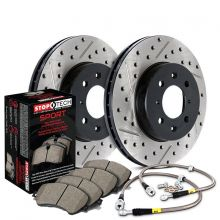 Stoptech 02-03 Civic Si Front Slotted and Drilled Sport Brake Kit