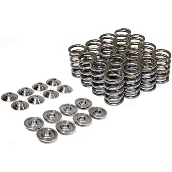 Supertech Dual Valve Springs and Retainers: 100psi