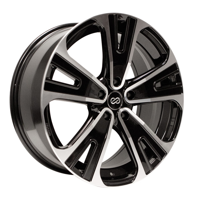 Enkei SVX Black Mach Wheel: 18x8 +50