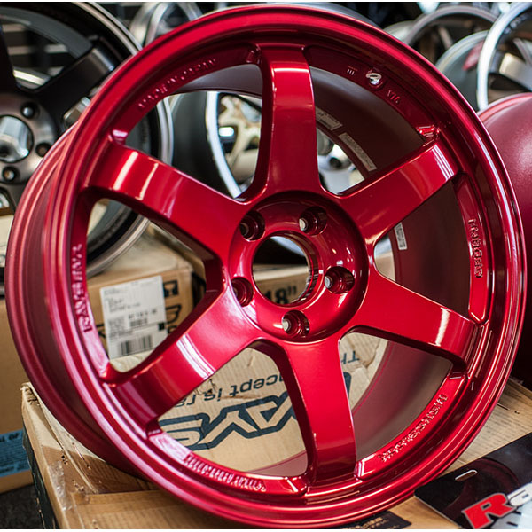 Volk Racing TE37 SL Hyper Red Wheel: 19x9.5 +22