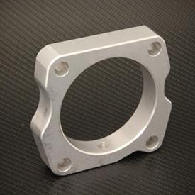 Torque Solution 04-07 TL Throttle Body Spacer: Silver