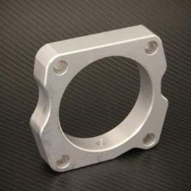 Torque Solution 03-07 Accord V6 Throttle Body Spacer: Silver