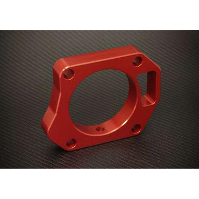 Torque Solution Throttle Body Spacer: Red