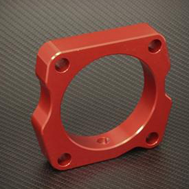 Torque Solution 10-14 TSX V6 Throttle Body Spacer: Red