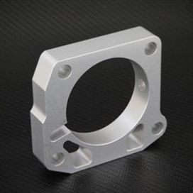 Torque Solution 99-00 Civic Si Throttle Body Spacer: Silver