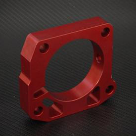 Torque Solution 99-00 Civic Si Throttle Body Spacer: Red