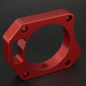 Torque Solution Throttle Body Spacer: 70mm - Red