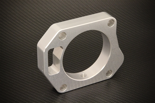 Torque Solution 06-11 Civic Si Throttle Body Spacer: Silver
