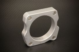 Torque Solution 06-09 S2000 Throttle Body Spacer: Silver