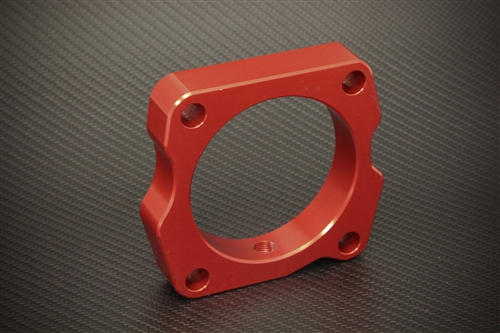Torque Solution 06-09 S2000 Throttle Body Spacer: Red