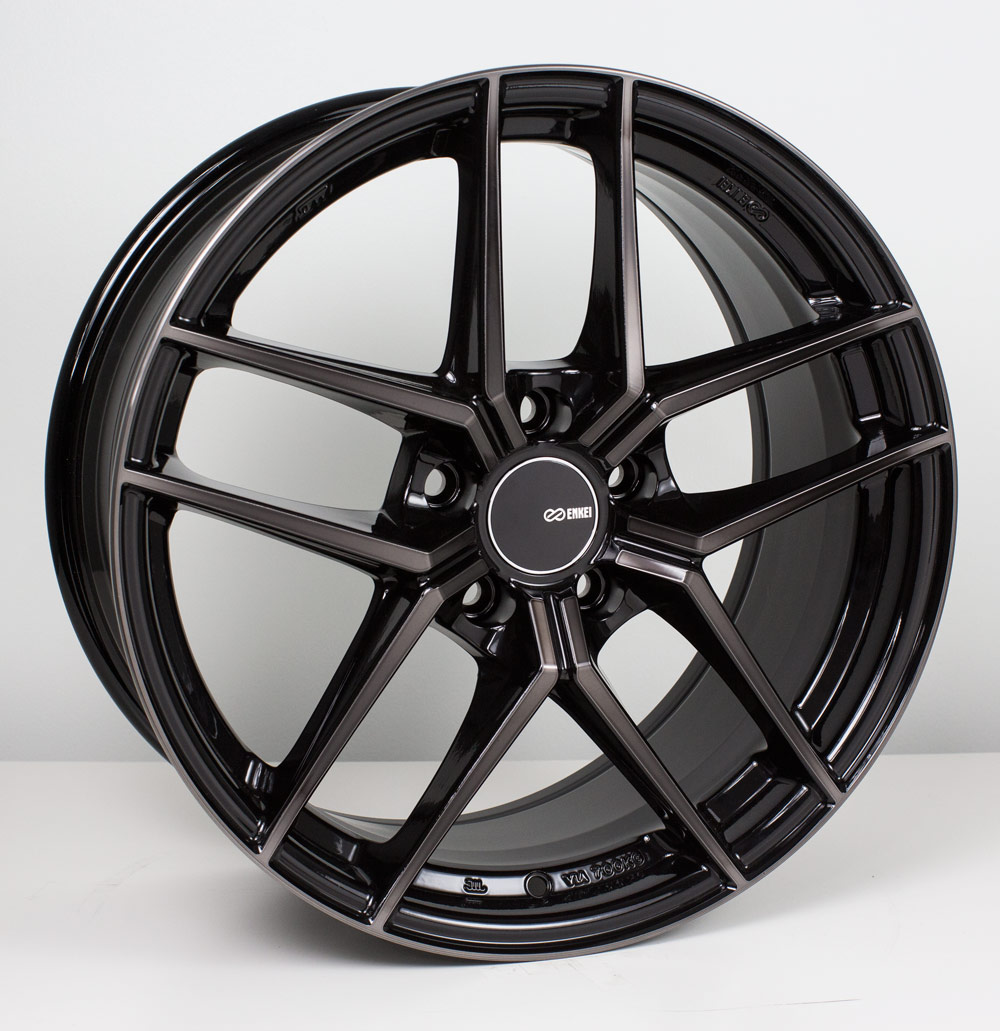 Enkei TY5 Black Mach Wheel: 18x9.5 +35