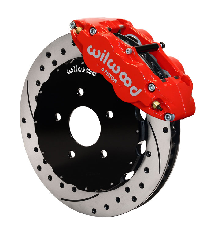 Wilwood Narrow Superlite 6R Front BBK: Red Caliper/Drilled Rotor