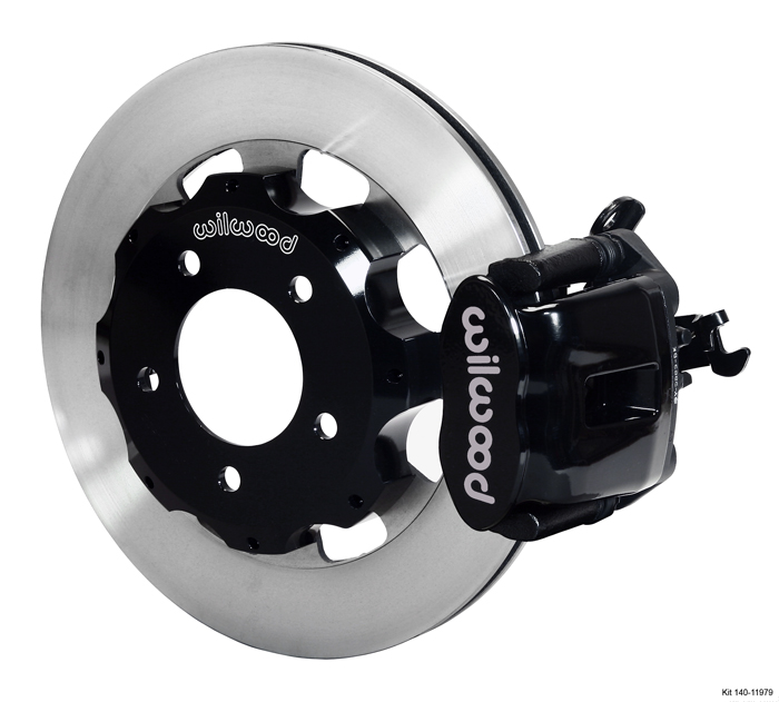 Wilwood 06-11 Civic Rear Big Brake Kit: Black Caliper and Plain Rotor