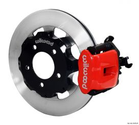 Wilwood 06-11 Civic Rear Big Brake Kit: Red Caliper and Plain Rotor