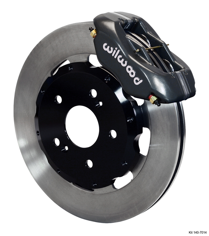 Wilwood 4 Piston Dynalite Front BBK: Black Caliper/Plain Rotor