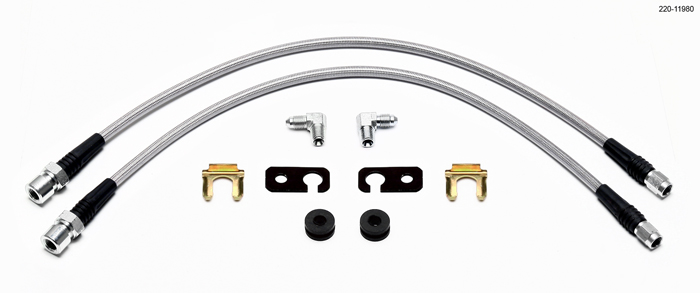 Wilwood Stainless Steel Front Brake Line Kit
