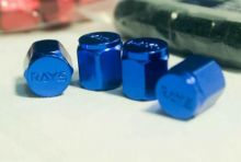 Rays Engineering Blue Valve Cap Set (4 Caps)