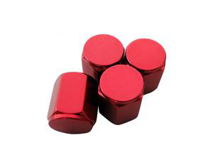 Rays Engineering Red Valve Cap Set (4 Caps)