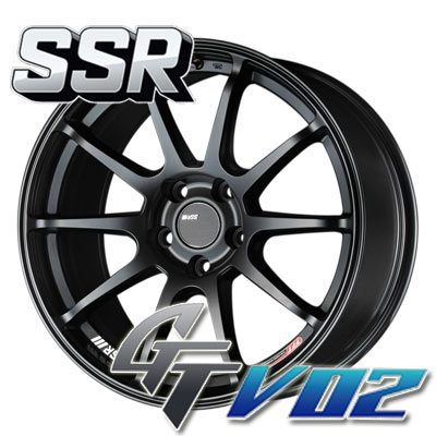 SSR GTV02 Flat Black Wheel: 19x9.5 +20