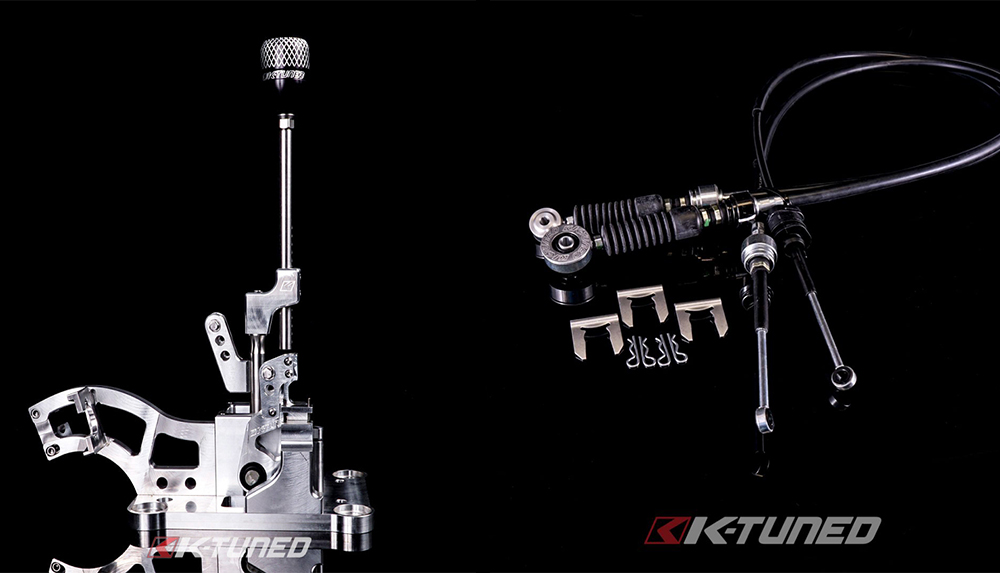 K-Tuned 02-06 RSX Billet Shifter / OEM-Spec Shifter Cable Combo