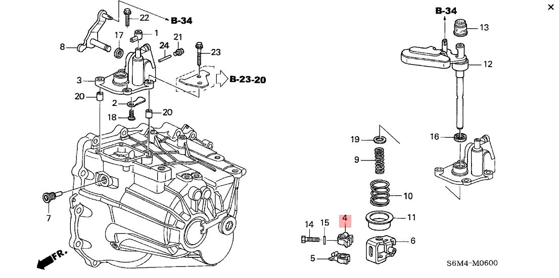 Honda OEM K Series Shift Arm