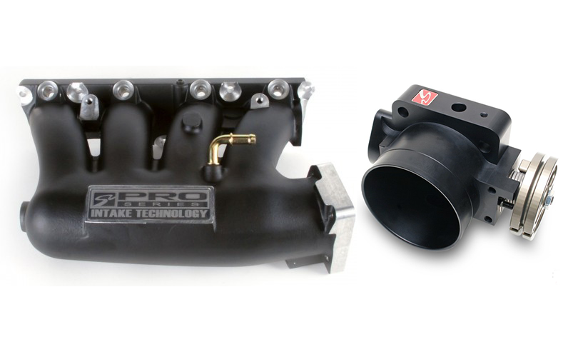 Skunk2 Pro Series Intake Manifold and 74mm Throttle Body Combo: Black