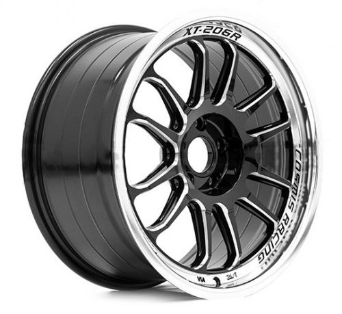 Cosmis Racing Xt206r 17x9 0 5 5x114 3 Black W Machined Lipspokes