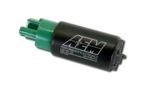 AEM 65mm Offset Inlet 320lph E85 High Flow In-Tank Fuel Pump