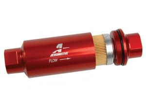 Aeromotive 10 Micron ORB-10 Fuel Filter (Red)