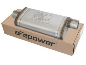 "aFe Power MACH Force XP Oval Muffler 3"" Center Inlet /3"" Offset Outlet"