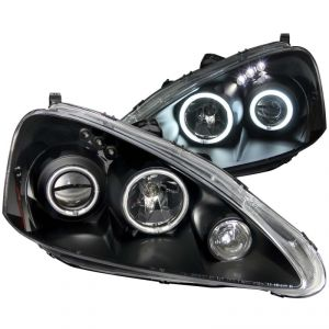 ANZO 05-06 RSX Black Projector Headlights