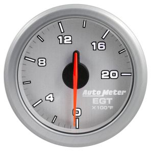 AutoMeter Silver AirDrive 0-2000`F E.G.T Gauge