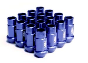 Blox Racing Street Series Lug Nuts 20 Pack: Blue M12 x 1.5