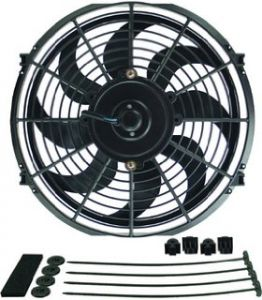 "Blox Racing 12"" Electric Slim Fan: Black"