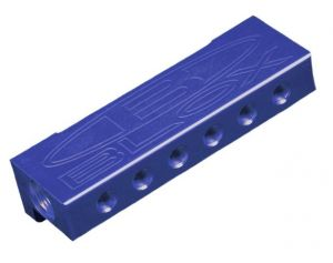 Blox Racing Surface-mount Vacuum Manifold Block: Blue