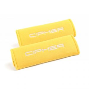 Cipher Auto Yellow 3 Inch Harness Pads: 2 Pads