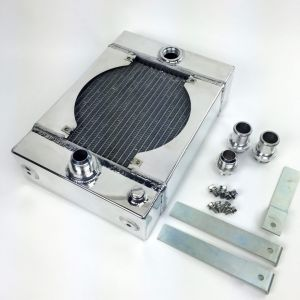 CSF The KING Drag Radiator with SPAL Fan Kit