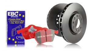 EBC 04-08 TL with Brembo Front S12 Redstuff Brake Pads and RK Rotors