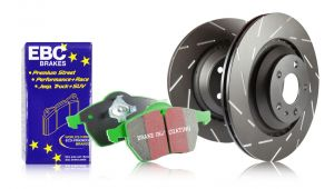 EBC 02-06 RSX Type-S Front S2 Greenstuff Brake Pads and USR Rotors