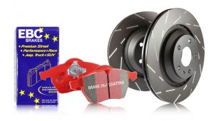 EBC 09-14 Acura TL Front S4 Redstuff Brake Pads and USR Rotors