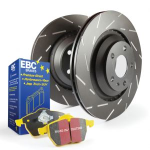 EBC Slotted Rear Rotor and Brake Pads: Honda Accord/Acura TSX