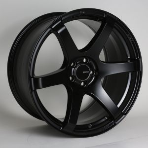 Enkei T6S Black Wheel: 17x8 35mm Offset 5x114.3 72.6 Bore