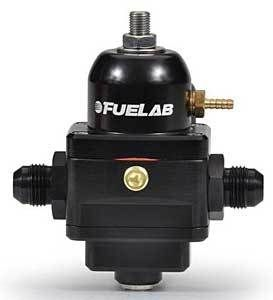 Fuelab Black EFI Adjustable Fuel Pressure Regulator -6AN Inlets