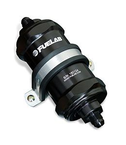 Fuelab Black -8AN In-Line Fuel Filter (10 Micron)