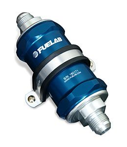 Fuelab Blue -10AN In-Line Fuel Filter (75 Micron SS Element)