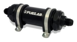 Fuelab Black -8AN In-Line Long Fuel Filter (6 Micron)