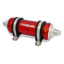 Fuelab Red -8AN In-Line Long Fuel Filter (6 Micron)