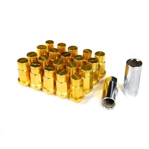 Godspeed Project Gold Type 4 50mm Lug Nuts 20 Piece Set M12 X 1.5