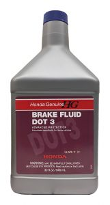 Honda Genuine DOT 3 Brake Fluid: 1 Quart