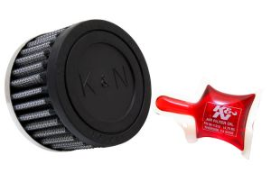 K&N Red Steel Base Crankcase Vent Filter 5/8 inch Vent